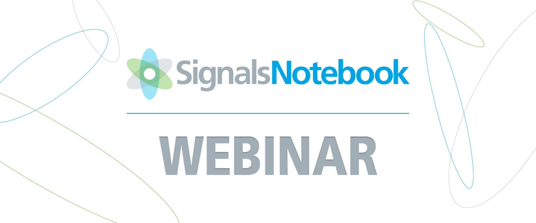 Webinar Signals Notebook – Le cahier de laboratoire électronique de nouvelle génération