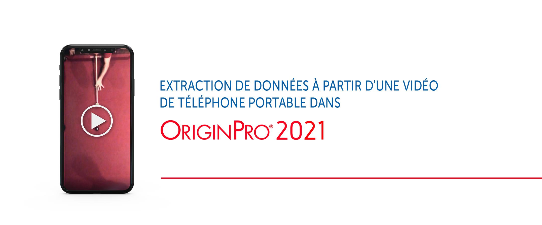 Extraction des données d'une vidéo de smartphone avec OriginPro