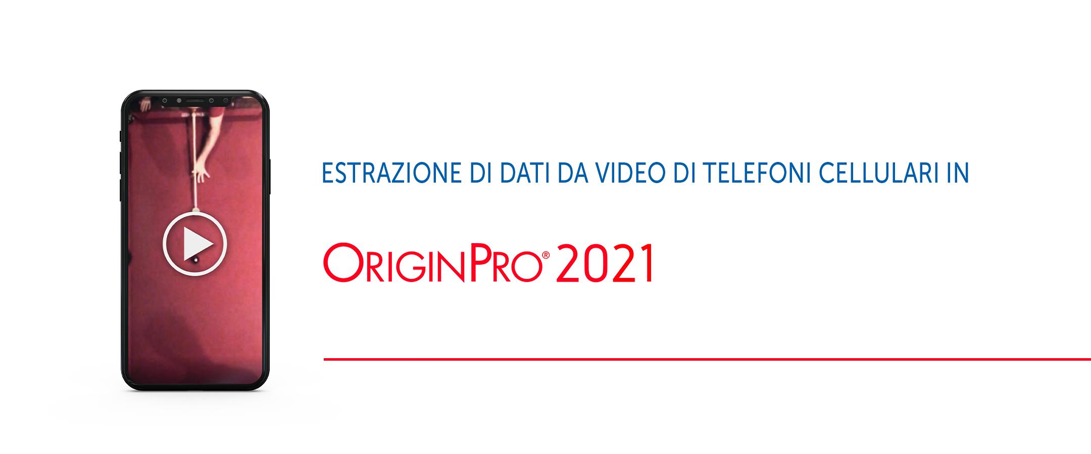 Estrarre dati da un video dello smartphone con OriginPro